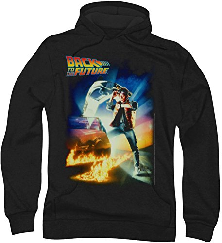 Back To The Future-Poster con cappuccio da uomo Nero