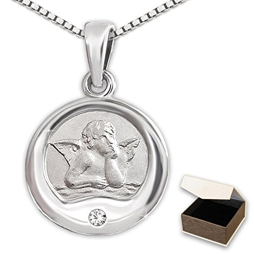 clever-jewellery-set-silver-pendant-small-diameter-12-mm-angel-classic-semi-gloss-interior-with-diam