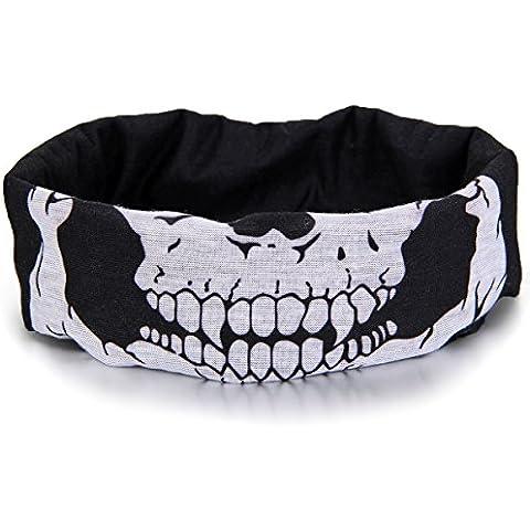 Jewelrywe Cranio Tubolare Protettivo Polvere Maschera Bandana Moto Sciarpa Poliestere Viso Collo Scaldino