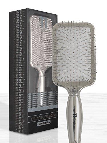 Paddle Brush Silber (Silber Deluxe Hair Brush–Kristall mit. Geschenk-Set)