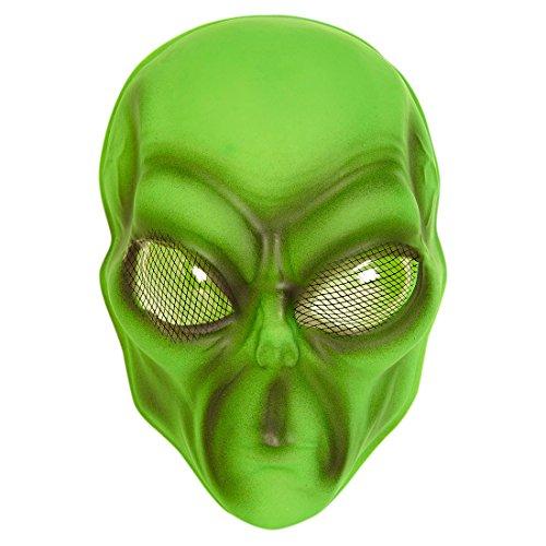 Maske Alien Alienmaske mit Facettenaugen Halloweenmaske Außerirdischer Space Faschingsmaske UFO Plastikmaske Horror Karnevalsmaske