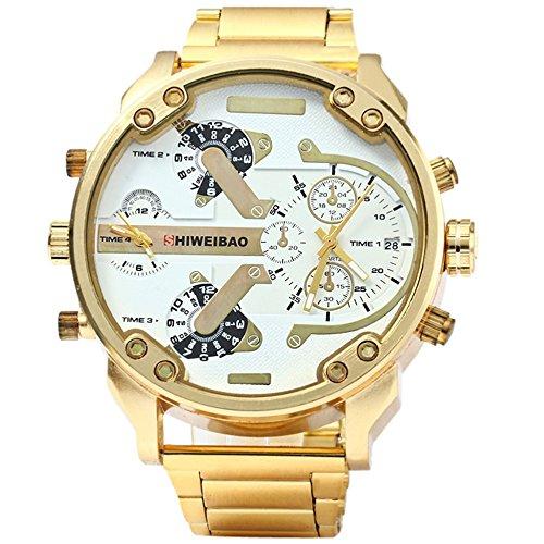 Fenkoo Hombre Militar reloj Quartz Calendario/Tiempo