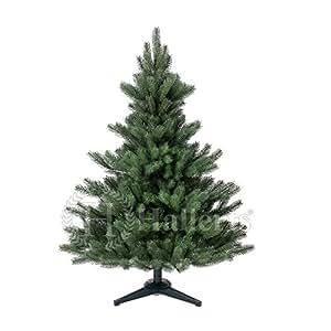 Original Hallerts® Spritzguss Weihnachtsbaum Alnwick 120 cm als Nordmanntanne - Christbaum zu 100% in Spritzguss PlasTip® Qualität - schwer entflammbar nach B1 Norm, Material TÜV und SGS geprüft - Premium Spritzgusstanne