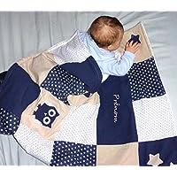 Couverture bébé personnalisable - thème Tendre nuit
