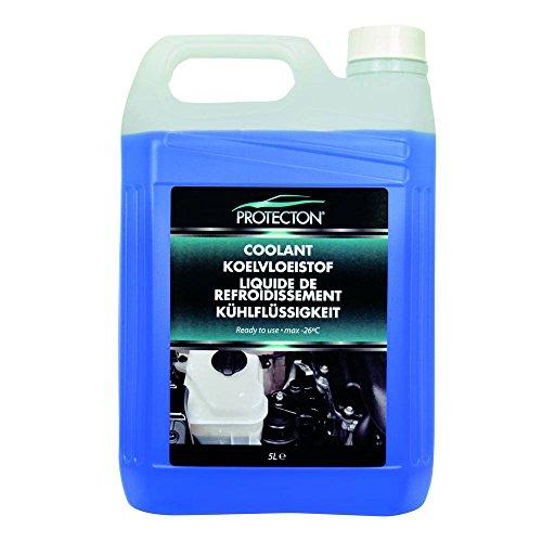 Protecton 1890908 Kühlfussigkeit 5L gebrauchsfertig, Blau (Kühler Wasser)
