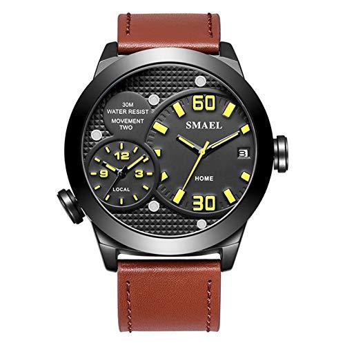 Adisaer Armbanduhren Herren Wasserdicht Quarz Uhr Herrenuhr Multifunktional Gelb Outdoor Sportuhr Armbanduhr Automatikuhr