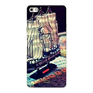 Delighted Travel Ship Map Multicolor Back Case Cover for Micromax Canvas Silver 5