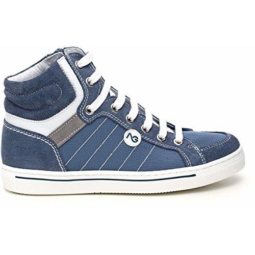 Nero Giardini Júnior, Jovem Sneaker Azul De Veludo Avio Blu