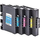 4x Cartucce d'inchiostro compatibili con il circuito integrato per Ricoh GC 41, per esempio, Lanier SG 3100/3110 DN / 3110 DNW / 7100 dn / Gestetner SG 3100/3110 DN / 3110 DNW / Gestetner SG K-3100 dn / NRG Aficio 3100 Series SG / SG 3110 DN / SG 3110 DNW / NRG SG 3100/3110 DN / 3110 DNW / NRG SG K-3100 dn / Ricoh Aficio 3100 Series SG / SG 3100 SNW / SG 3110 dn / SG 3110 dnw / SG 3110 n / SG 3110 SFNw / SG 3120 B SF / SG 3120 B SFN / SG 3120 B SFNw / SG 7100 dn / SG K 3100 dn