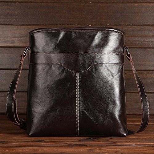 WanJiaMen'Shop Leder ist einfach Business Men Bag Umhängetasche vertikale Tasche Business Package 28 x 9 x 30,5 cm