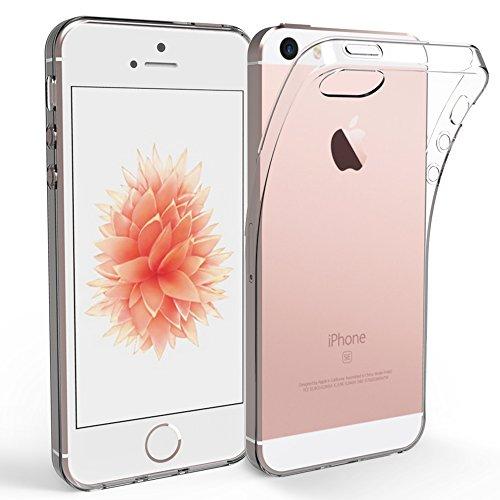 iPhone SE 5S 5 Coque de Protection, EasyAcc Etui Transparent Antidérapant Pour iPhone SE Smartphone 4G, Protection Dorsale Étui Slim Invisible Housse en TPU Gel Avec Absorption de Chocs