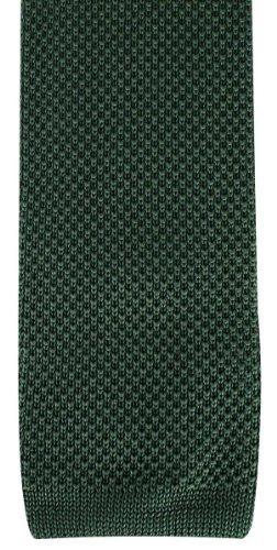 Olive Plain lavorato a maglia Cravatte di