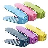 Organizador de la marca Hunpta, de plástico, para zapatos, ahorra espacio de almacenamiento, 1 unidad