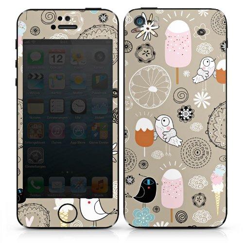 Apple iPhone 4 Case Skin Sticker aus Vinyl-Folie Aufkleber Birds love Icecream Eis Vögel DesignSkins® glänzend