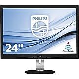 Philips 240B4QPYEB/00 61 cm (24 Zoll) PLS-Monitor (VGA, DVI, USB, DisplayPort, 1920 x 1200, 60 Hz, Pivot) schwarz
