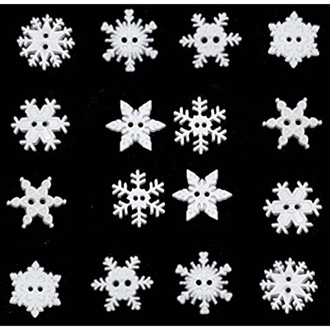 Sew Thru Snowflakes Novelty Craft Buttons & Embellishments by Dress It Up by Jesse James