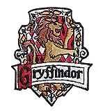 Parche bordado con diseño de Griffindor, transferible por medio de planchado o costura, bordado con diseño de la casa de Hogwarts de Harry Potter