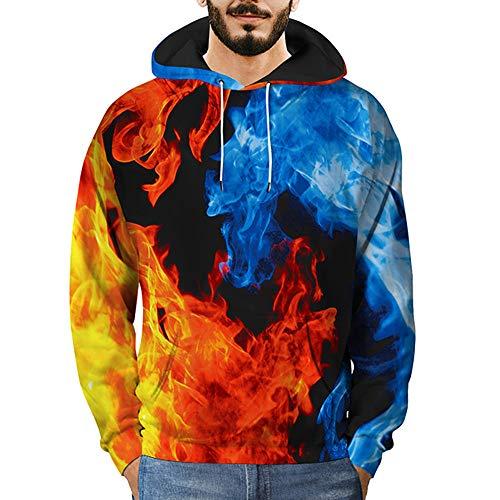 Sweatshirt Herren 3D Printed Sky Pullover Langarm Kapuzenpullover Kapuzen Streetwear Tops Bluse SANFASHION