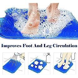 Laveur de pieds pour douche, nettoyant pour laveur de pieds - améliore la circulation des pieds, spa pour les pieds, exfoliation, brosse de massage