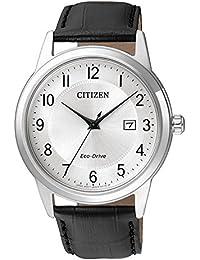 Reloj CITIZEN of–Joy AW1231–07A/VI Solar acero quandrante plateado correa piel