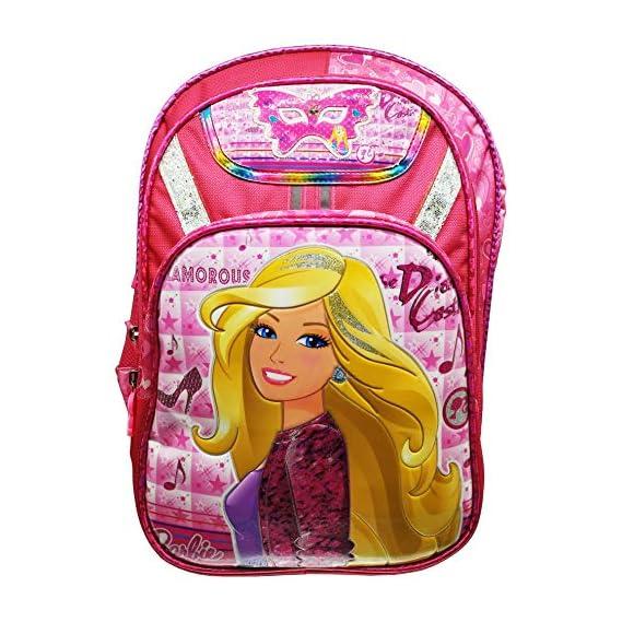 Barbie Disney Cinderella Frozen Dora Girl's Synthetic 30 L Pink School Bag Backpack (15.5 X 12 X 22.5 Inches L X B X H)