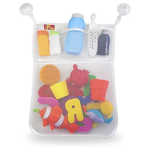 BOOGA BABY Badespielzeug Organizer | Badorganizer mit mehreren Taschen inkl. 4 Saugnäpfe für optimale Befestigung an Badewanne und Dusche