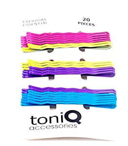 Toniq Colorful Set of 20 Bobby Pins (Hair pins)