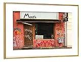 artboxONE Poster mit Rahmen Gold 75x50 cm Kind.heitserinnerungen von Torsten Kupke - gerahmtes Poster
