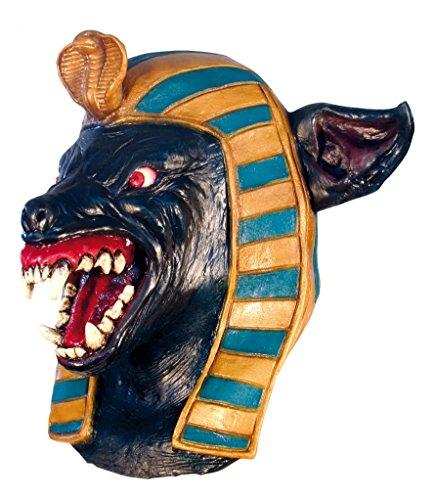 Anubis Kostüm - GHOULISH Scary Halloween Latex Kopf-, Hals- und Gesichtsschutz Anubis Große gruselige Party Kostüm