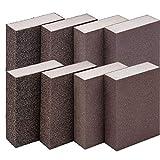 8PCS Spugne Abrasive Osuter Spugna Abrasiva Blocco di Levigatura Tamponi Abrasivi Superfine Fine Medio Grossolano Lavabile e Riutilizzabile Adatto per la Macinazione di Diversi Materiali