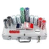 AllRight Poker Chips Set Game Poker Casino Poker Set 300 Pcs In Aluminium Case