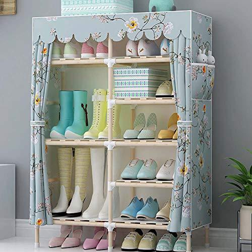 Scarpiera_armadio scarpa in legno massello antipolvere tessuto a 6 strati, semplice e bello rack di stoccaggio di montaggio a casa (può mettere stivali)