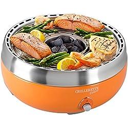 Food and Fun Tisch-Holzkohlegril Grillerette Premium, orange