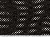 ab 1m: Baumwoll-Jersey, kleine Punkte, schwarz, 158cm breit