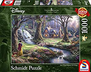 Schmidt Spiele Puzzle 59485Thomas Kinkade, Disney Blancanieves, 1000Piezas