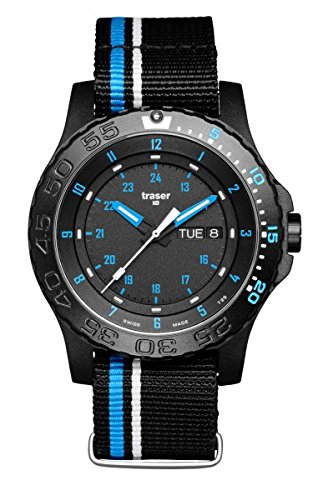 Traser H3 Watches Blue Infinity Black/Blue 105545