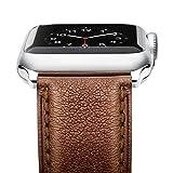 Apple Watch Armband , Benuo iWatch Ersatzband Echtes Leder Uhrenarmband mit Metall Schließe für...