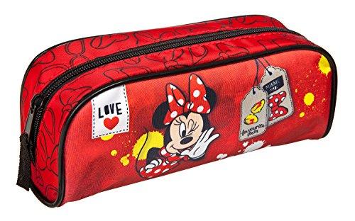 Undercover MINP0691–Estuche escolar de Disney Minnie Mouse, aprox. 23x 8x 7cm, color rojo