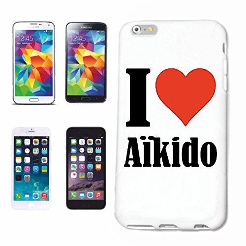 """Handyhülle Samsung Galaxy S6 edge """"I Love Aïkido"""" Hardcase Schutzhülle Handycover Smart Cover für Samsung Galaxy S6 edge … in Weiß … Schlank und schön, das ist unser HardCase. Das Case wird mit einem Klick auf deinem Smartphone befestigt"""