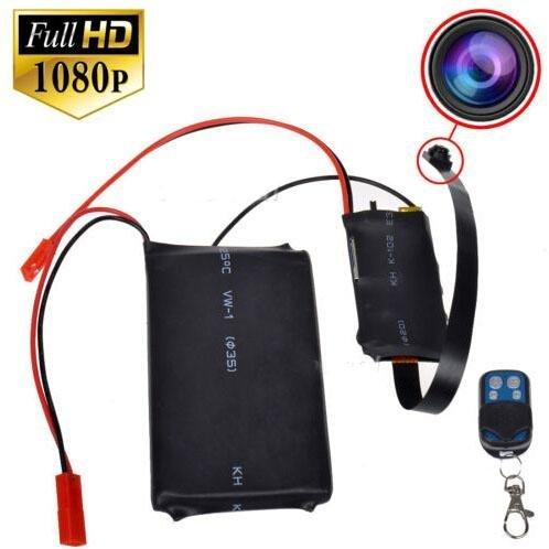 Electro-Weideworld - 1080P HD Cámara Espía Botón Mini SD Tarjeta Seguridad Videocámara DVR Detección de Movimiento