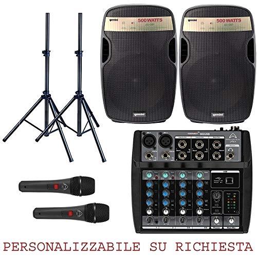 812 PACK - IMPIANTO AUDIO COMPLETO PER DJ PUB DISCOBAR KARAOKE