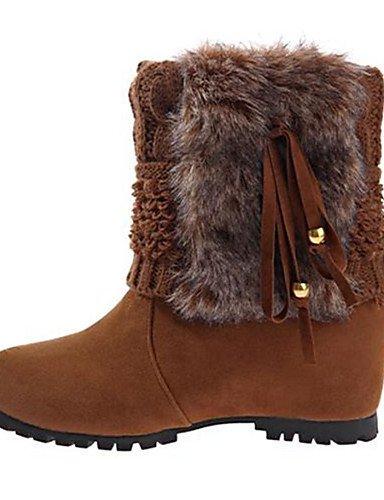 ShangYi Mode Frauen Schuhe Damen Stiefel Winter Fashion Schuhe Fleece Casual flachem Absatz Quaste Schwarz / Blau / Khaki Andere Gelb