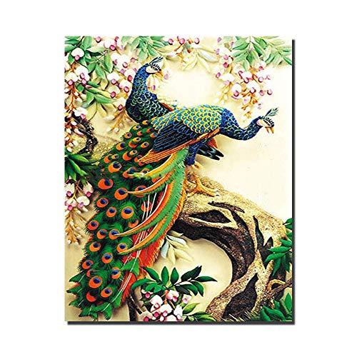 IY Ölgemälde Farbe Durch Nummer 16x20 Zoll Romantische Muster Wohnzimmer Schlafzimmer Büro Wohnkultur Mit Innenrahmen,Frameless ()