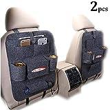 Protezione Sedile Auto Bambini,ZoneYan 2pcs Proteggi Sedile Organizzatore Sedile,Auto Organizzatore,Tasca Portaoggetti Auto