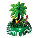 1 Stück Centerpiece / Tischdeko 'Fringe Palm Tree', ca. 29,5 x 33 cm, Stecksystem