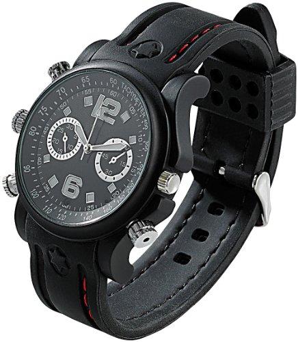 4 Gb-armband (OctaCam Kamerauhren: 5in1-Kamera-Uhr mit Voice-Recorder