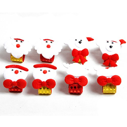QERITA Slap Bracelets Kids Wrist Bands Party Supplies Xmas Christmas Snowman Santa Fun Gifts Decoration