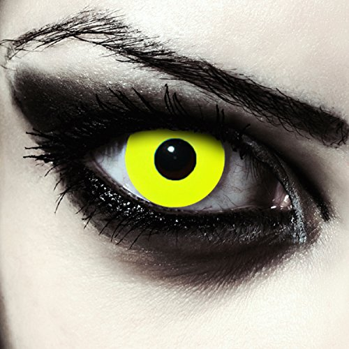 Lentillas de color amarillo para Halloween