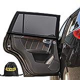 Sonnenschutz Auto Baby (2 Stück), PEMOTech® [flexibel] [dehnbaresNetz] Auto-Hinterseitenfenster Sonnenblenden für Baby, Ihre Baby und ältere Kinder werdenvorSonnengeschützt, geeignetfür Autos und SUVs