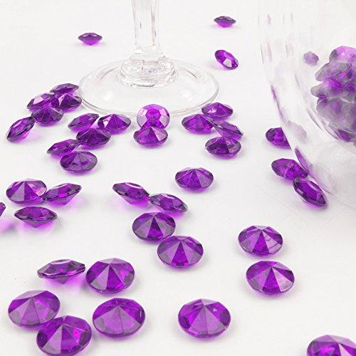 Deko-Diamanten 12 mm pflaume 100 Stück - Streudeko Deko Steine Kristalle Diamanten